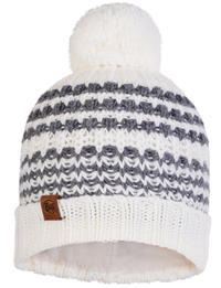 Knitted & Fleece Hat - Kostik White