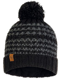 Knitted & Fleece Hat - Kostik Black