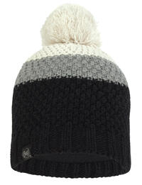 Knitted & Fleece Hat - Jav Black