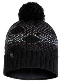 Knitted & Fleece Hat - Garid Black