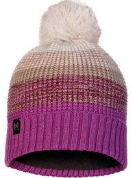 Knitted & Fleece Hat Alyona Mauve