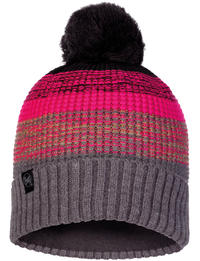 Knitted & Fleece Hat Alyona Melange Grey