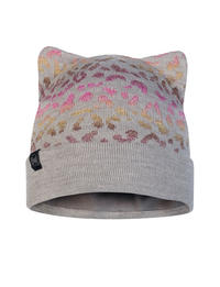 Junior Knitted & Fleece Hat - Alisa Melange Grey