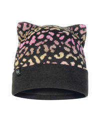 Junior Knitted & Fleece Hat - Alisa Black