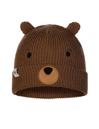 Child Knitted & Fleece Hat Fun Bear