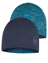 Junior Lightweight Merino Wool Hat - Denim/Ice Multi