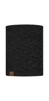 Knitted & Fleece Neckwarmer - Caryn Graphite