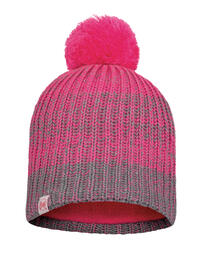 Junior Knitted & Fleece Hat - Gella Pump Pink