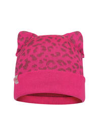 Junior Knitted & Fleece Hat - Alisa Pump Pink