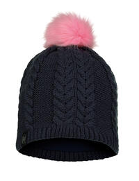 Child Knitted & Fleece Hat - Nina Night Blue