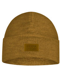Merino Wool Fleece Hat Ochre