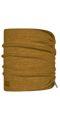 Merino Wool Fleece Neckwarmer Ochre