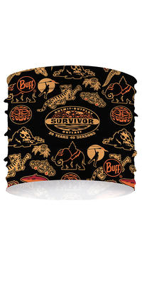 CoolNet UV+ Multifunctional Headband Survivor - Commemorative 20 Years 40 Seasons - Black