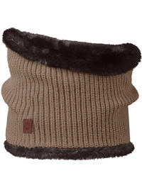 Knit Neckwarmer Adalwolf Brown Taupe