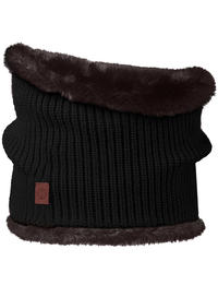 Knit Neckwarmer Adalwolf Black