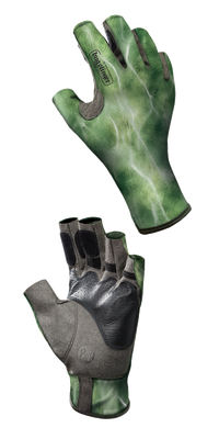 Pro Series Angler 2 Gloves Bug Slinger - BS Water Camo Green