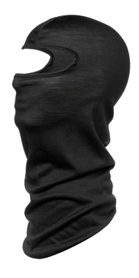 Merino Wool Balaclava - Buff Black