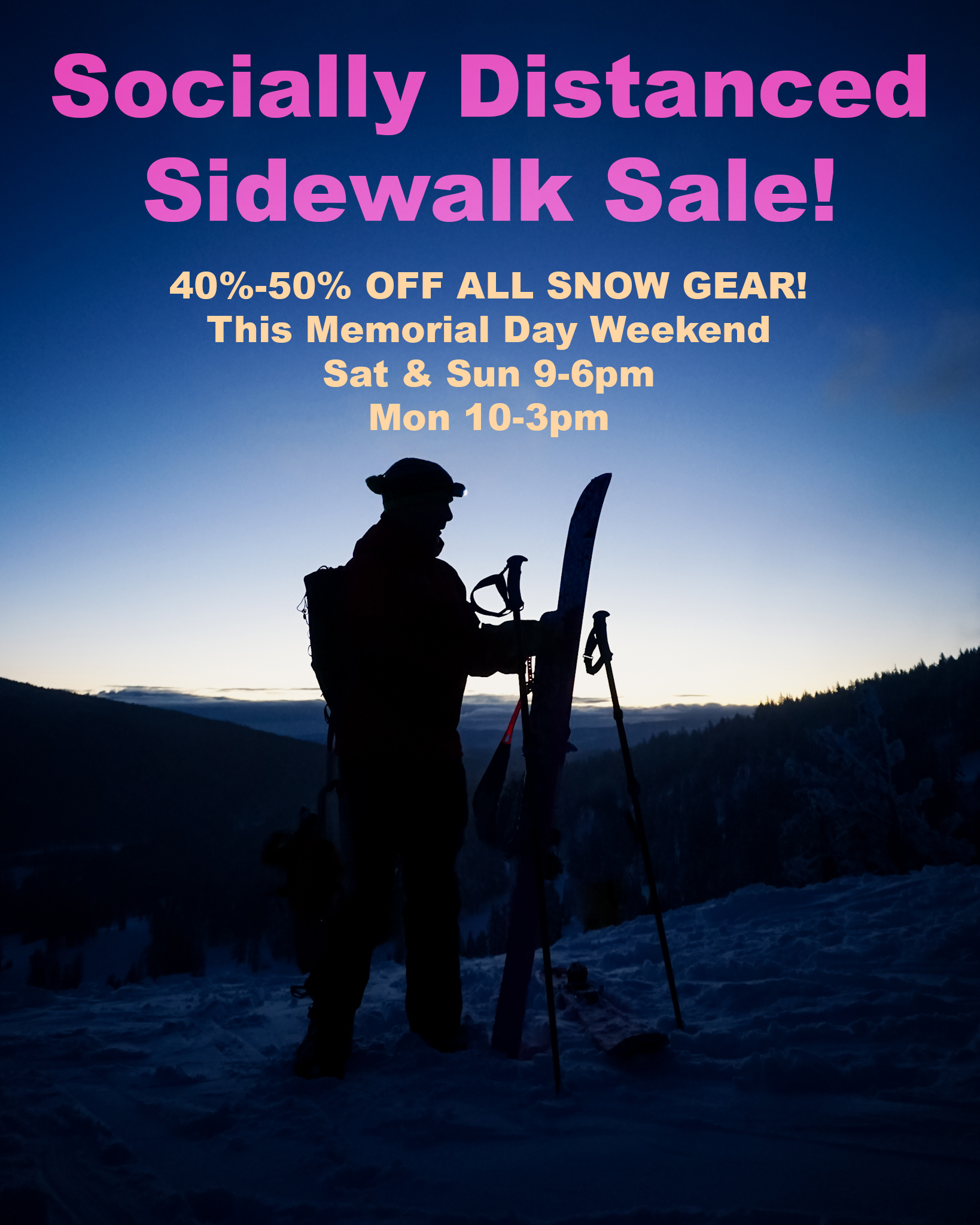 Socially Distanced Sidewalk Sale!