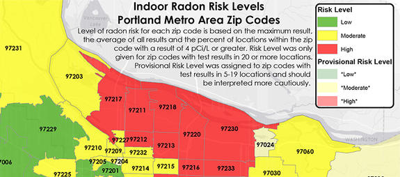 PORTLAND RADON MAP