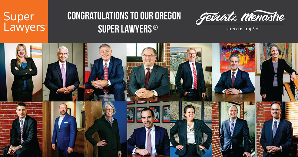 Congratulations To Our 2019 Oregon Super Lawyers® & Rising Stars