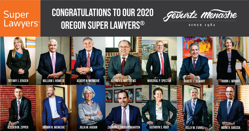 2020 Oregon Super Lawyers & Rising Stars