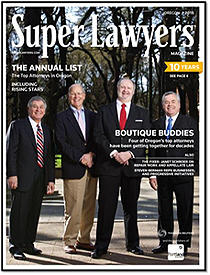 Founding Shareholder, Albert Menashe and The Boutique Buddies Featured In Oregon Super Lawyers Magaz