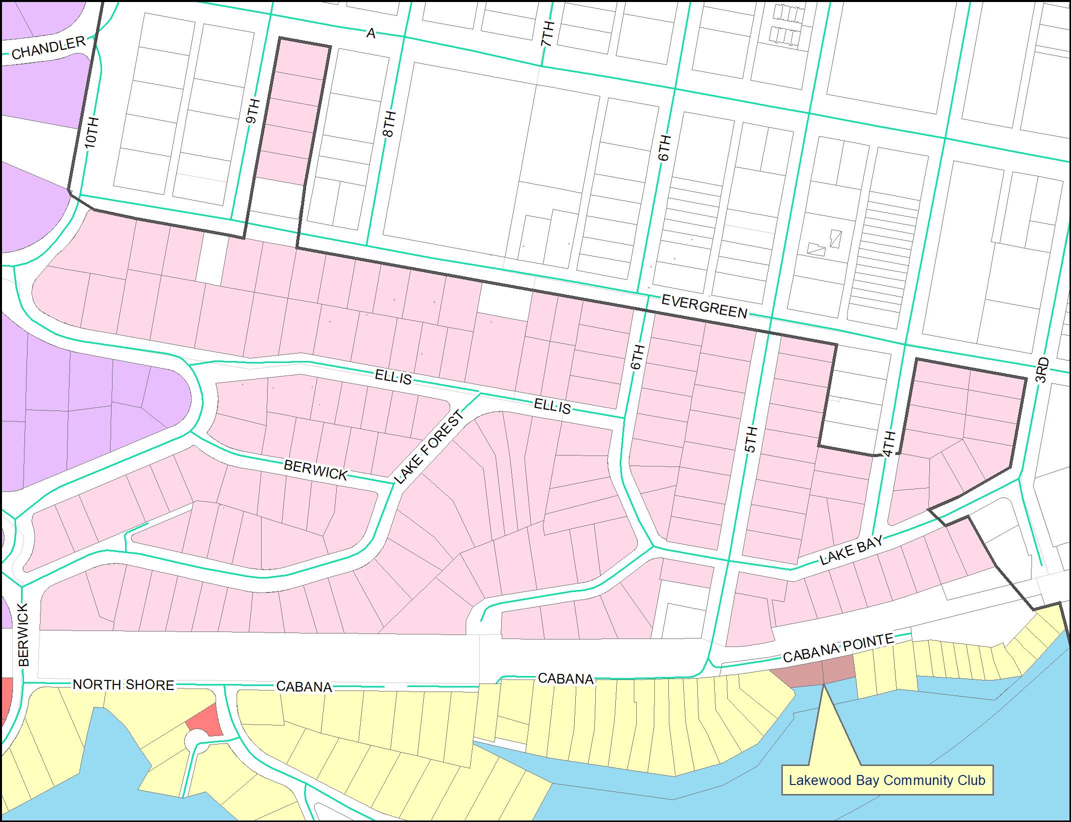 Lakewood Bay Community Club Map