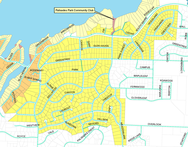Palisades Park Community Club Map