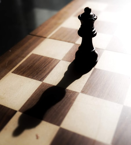 image of a chess piece on chess board