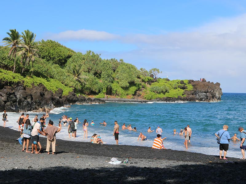 There are lots of beaches to enjoy along the Road to Hana on Maui