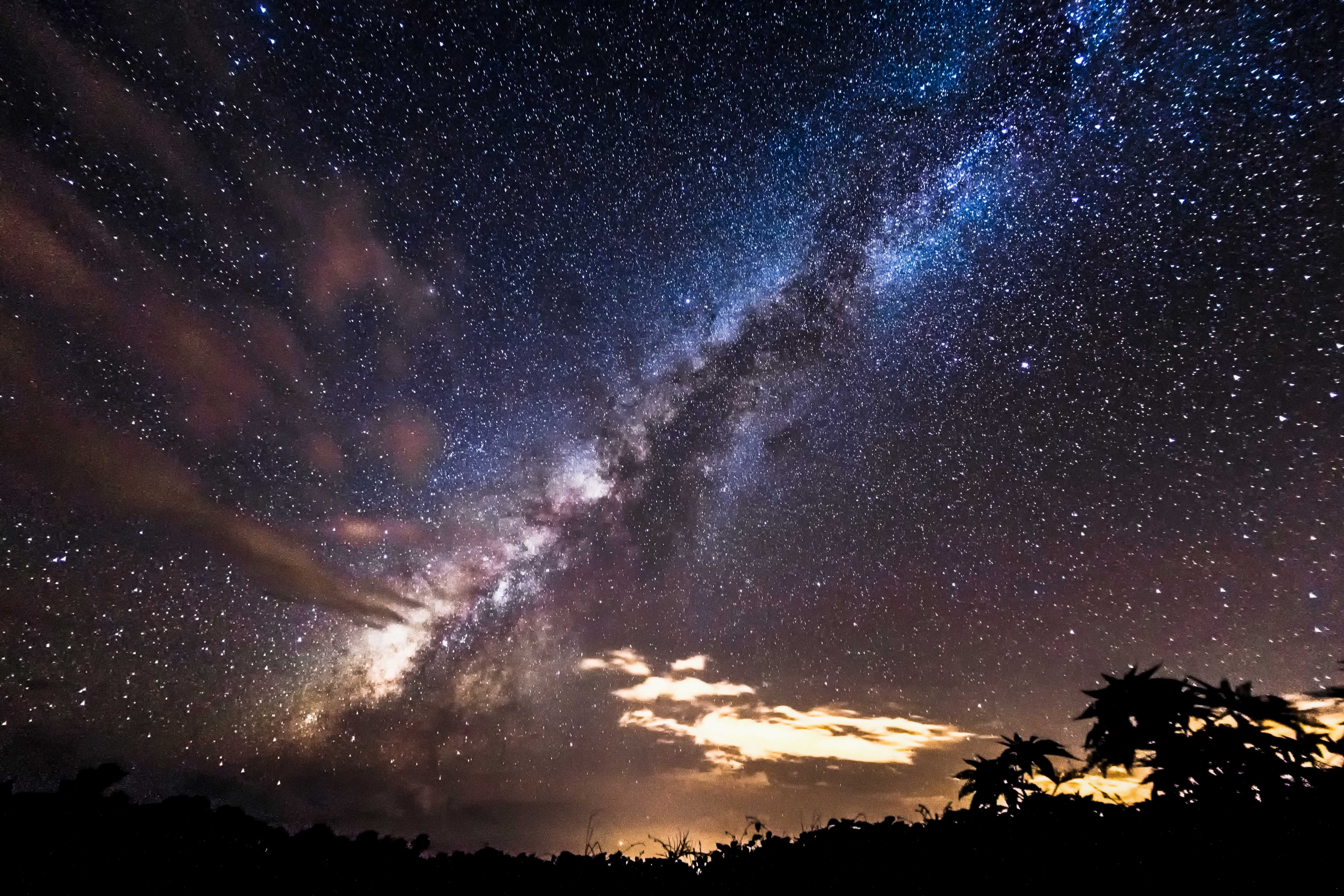 View of the stars on Maui